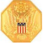USA FEDERAL SEAL GOLD DOMED