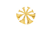 "3/4"" BUGLES - 4 CROSSED - GOLD"