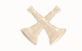 "1 1/4"" BUGLES - 2 CROSSED - SILVER"