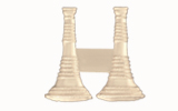 "1 1/4"" BUGLES - 2 STANDING - SILVER"