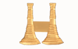 "1 1/4"" BUGLES - 2 STANDING - GOLD"