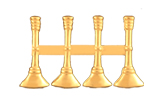 "1"" BUGLES - 4 STANDING - GOLD"