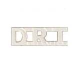 METAL LETTERING D.R.T. - SILVER