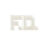 METAL LETTERING F.D. - SILVER