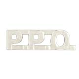 METAL LETTERING P.P.O. - SILVER