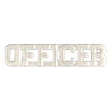 METAL LETTERING OFFICER - SILVER