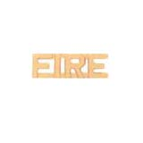 METAL LETTERING FIRE - GOLD