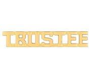 METAL LETTERING TRUSTEE - GOLD