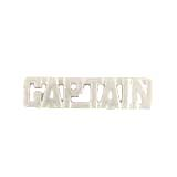 METAL LETTERING CAPTAIN - SILVER