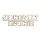 METAL LETTERING SECURITY OFFICER - SILVER