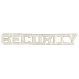 METAL LETTERING SECURITY - SILVER