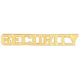 METAL LETTERING SECURITY - GOLD