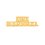 METAL LETTERING FIRE MARSHAL - GOLD
