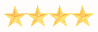 "3/4"" STARS - 4 GOLD CORRUGATED"