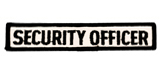 1 X 5 SECURITY OFFICER - WHITE WITH BLACK