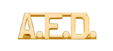 METAL LETTERING A.F.D. - GOLD