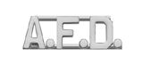 METAL LETTERING A.F.D. - SILVER