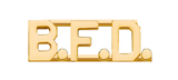 METAL LETTERING B.F.D. - GOLD