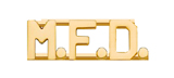 METAL LETTERING M.F.D. - GOLD