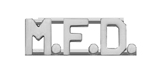 METAL LETTERING M.F.D. - SILVER