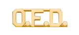 METAL LETTERING O.F.D. - GOLD
