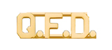 METAL LETTERING Q.F.D. - GOLD