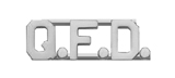 METAL LETTERING Q.F.D. - SILVER