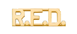METAL LETTERING R.F.D. - GOLD