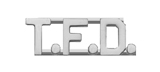 METAL LETTERING T.F.D. - SILVER