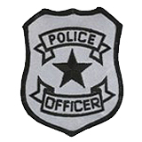 BASIC SHIELD - BLACK ON SILVER - POLICE OFFICER