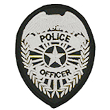 EAGLE W/ RAYS - SILVER/BLACK - POLICE OFFICER