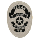 OVAL - BLACK ON SILVER - TEXAS PEACE OFFICER