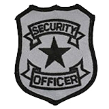 BASIC SHIELD - BLACK ON SILVER - SECURITY OFFICER
