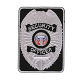 TACTICAL SHIELD - SILVER/BLACK - SEC OFFICER
