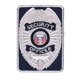 TACTICAL SHIELD - SILVER/NAVY - SEC OFFICER