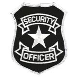 BASIC SHIELD - WHITE ON BLACK - SECURITY OFFICER