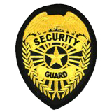 EAGLE W/ RAYS - GOLD/BLACK - SECURITY GUARD