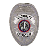 EAGLE W/ SCALES - SILVER - SECURITY OFFICER