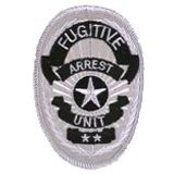 OVAL W/ STAR - SILVER - FUGITIVE ARREST UNIT