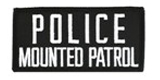 2 X 4 POLICE MOUNTED PATROL - BLACK WITH WHITE