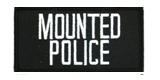2 X 4 MOUNTED POLICE - BLACK WITH WHITE