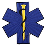 "3""  STAR OF LIFE - BLUE/BLACK/GOLD"