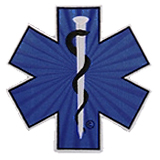 "3""  STAR OF LIFE - BLUE/BLACK/SILVER"