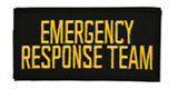 2 X 4 EMERGENCY RESPONSE TEAM - BLACK WITH GOLD