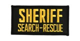 2 X 4 SHERIFF SEARCH AND RESCUE - BLACK WITH GOLD
