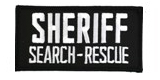 2 X 4 SHERIFF SEARCH AND RESCUE - BLACK WITH WHITE