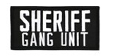 2 X 4 SHERIFF GANG UNIT - BLACK WITH WHITE