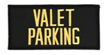 2 X 4 VALET PARKING - BLACK WITH GOLD