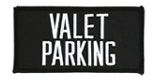 2 X 4 VALET PARKING - BLACK WITH WHITE