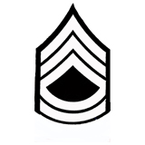 3'' SGT 1ST CLASS 3 UP 2 DOWN WHITE AND BLACK